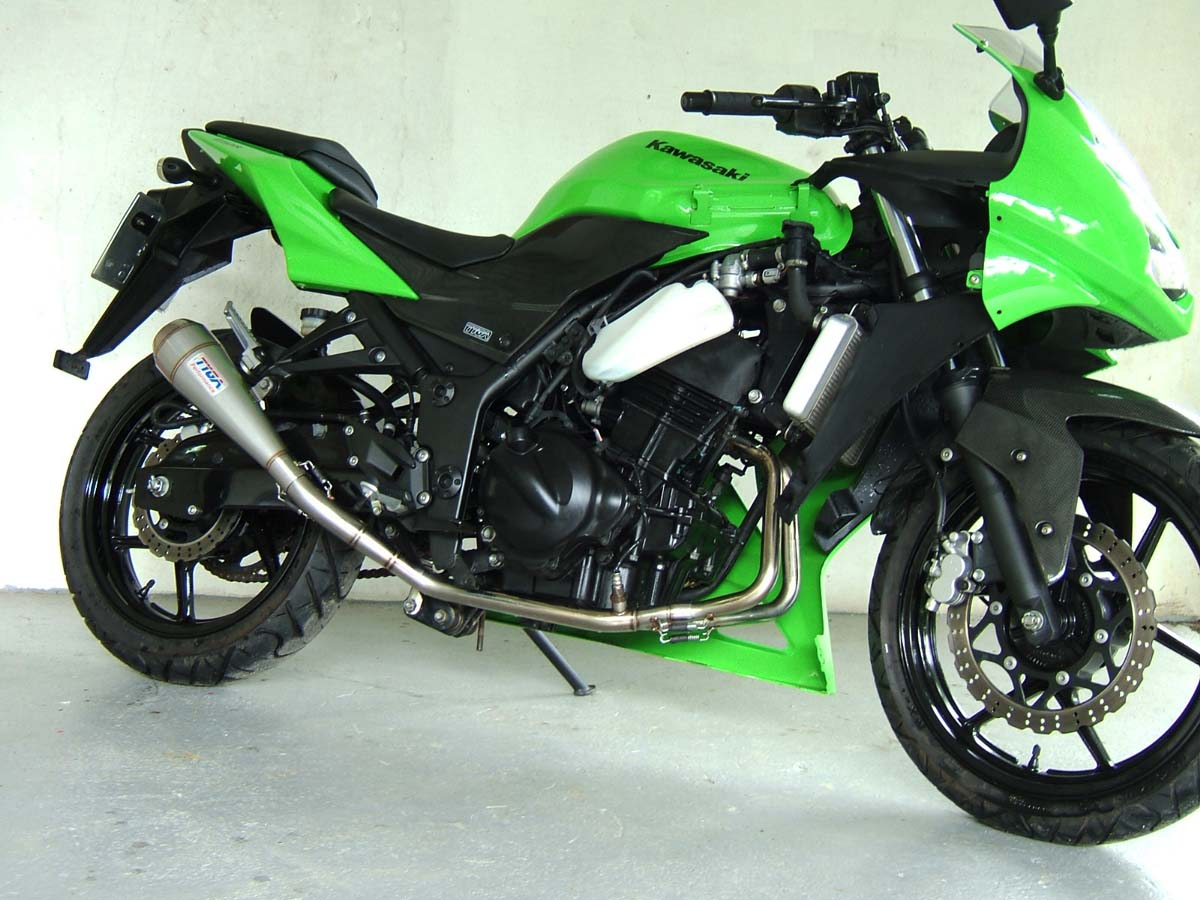 Set, Pipe, Full Race System, Ninja 250 2008-12, Moto Maggot Silencer